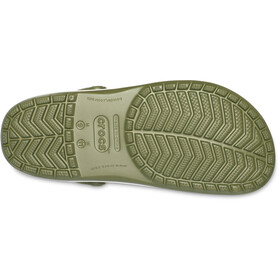 Crocs Crocband Clogs zoccoli, verde oliva/bianco
